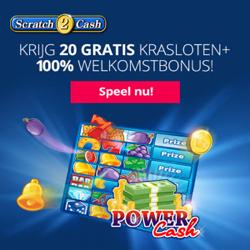 Ontvang 20 gratis krasloten bij Scratch2Cash >