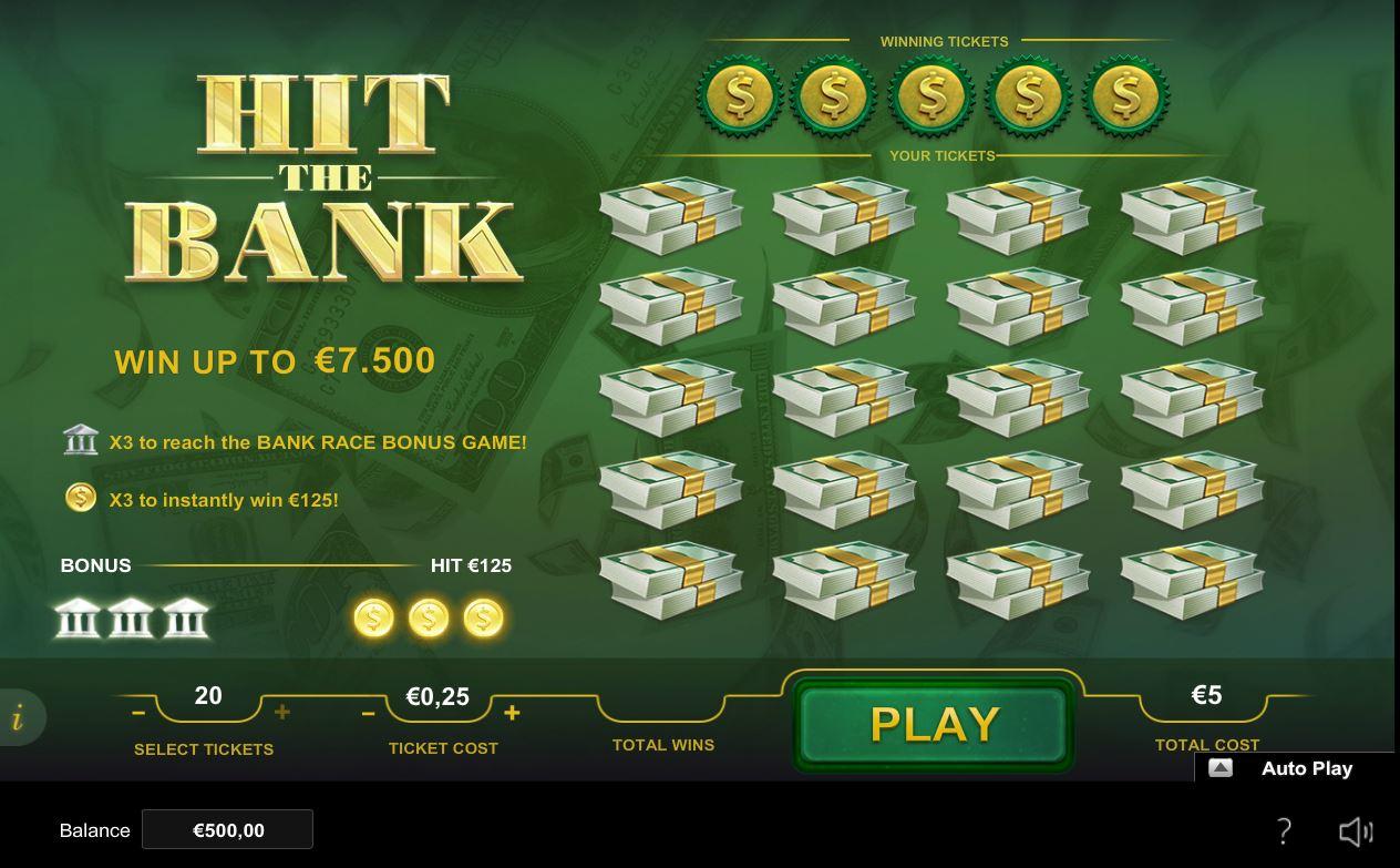 Scratch2Cash Hit The Bank