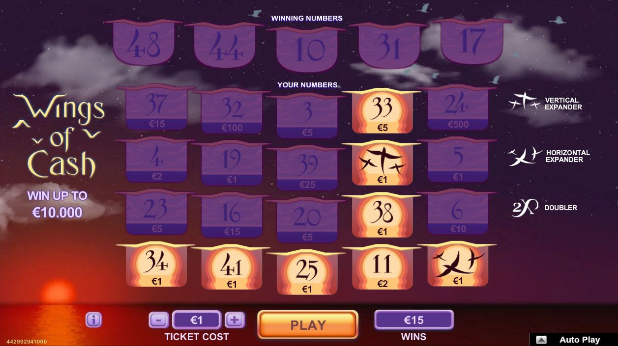 Scratch2Cash Wings of Cash2
